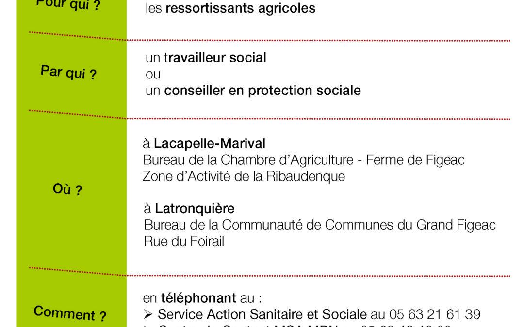 Deux nouveaux points d'accueil MSA : Lacapelle-Marival et Latronquière